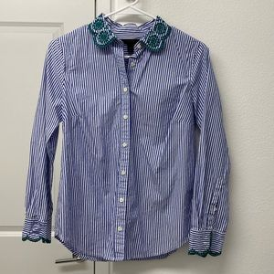 JCrew Buttonup with embroidery